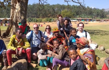 reis naar Ethiopië gezin
