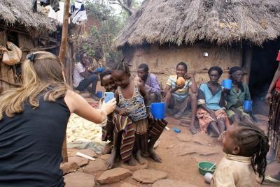 Kinderen Konso stam Ethiopie