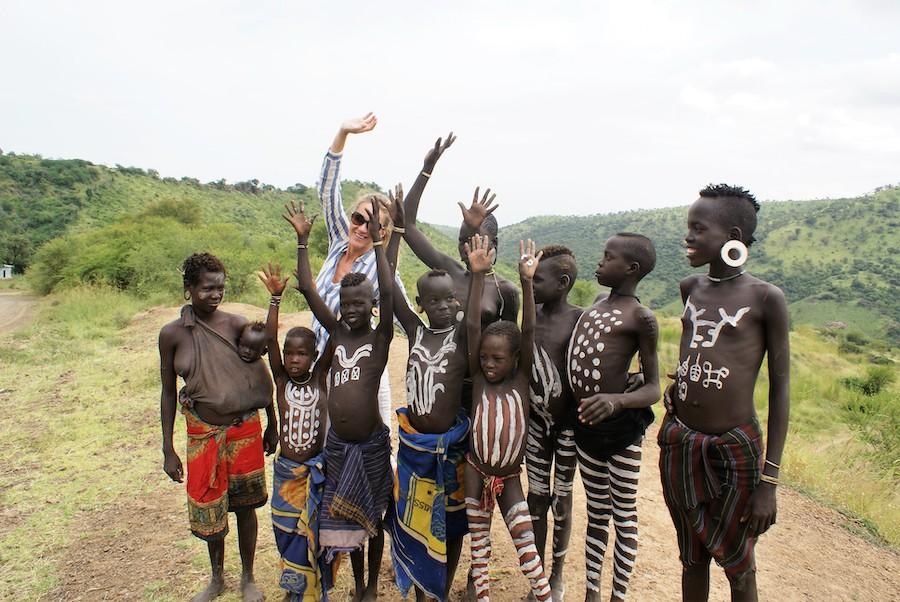 Kinderen Karo stam Ethiopie